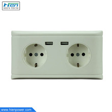Euro schuko socket electric plug usb power wall socket set outlet