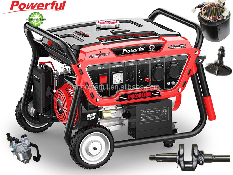 Factory direct 2kw/2kva portable gasoline generator price
