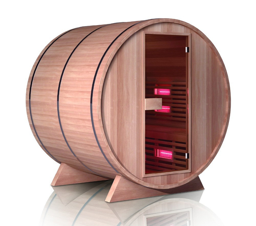 High Quality Waterproof Infrared Traditional Barrel Sauna House 01-S1