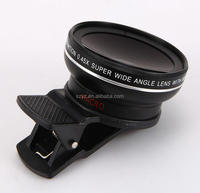 For mobile phone smartphone 2 in 1 plastic clip 0.45x super wide angle camera lens macro lens