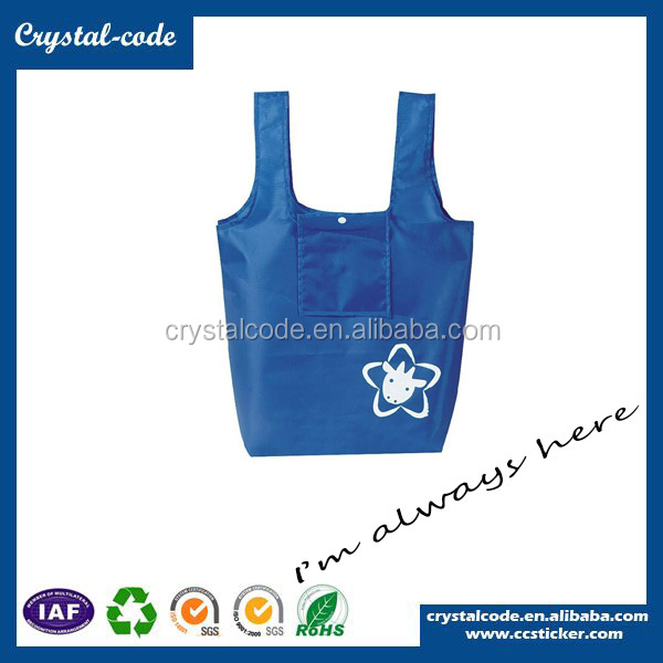 China New Premium 100% Polyester Fabric Shopping Bag