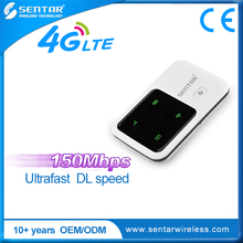 High Speed Cat4 150Mbps Wireless Router Unlock Sentar 4G LTE Mobile Wifi Router