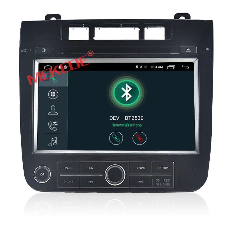 wholesale Android7.1 2G RAM car stereo system dvd player for VW New Touareg 1024*600 HD screen