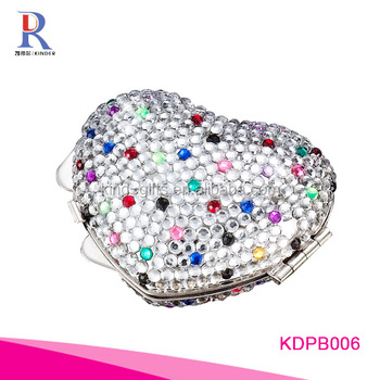 Wholesales high selling bling sparkle rhinestone luxury jewelry decorative funky heart shaped pill box