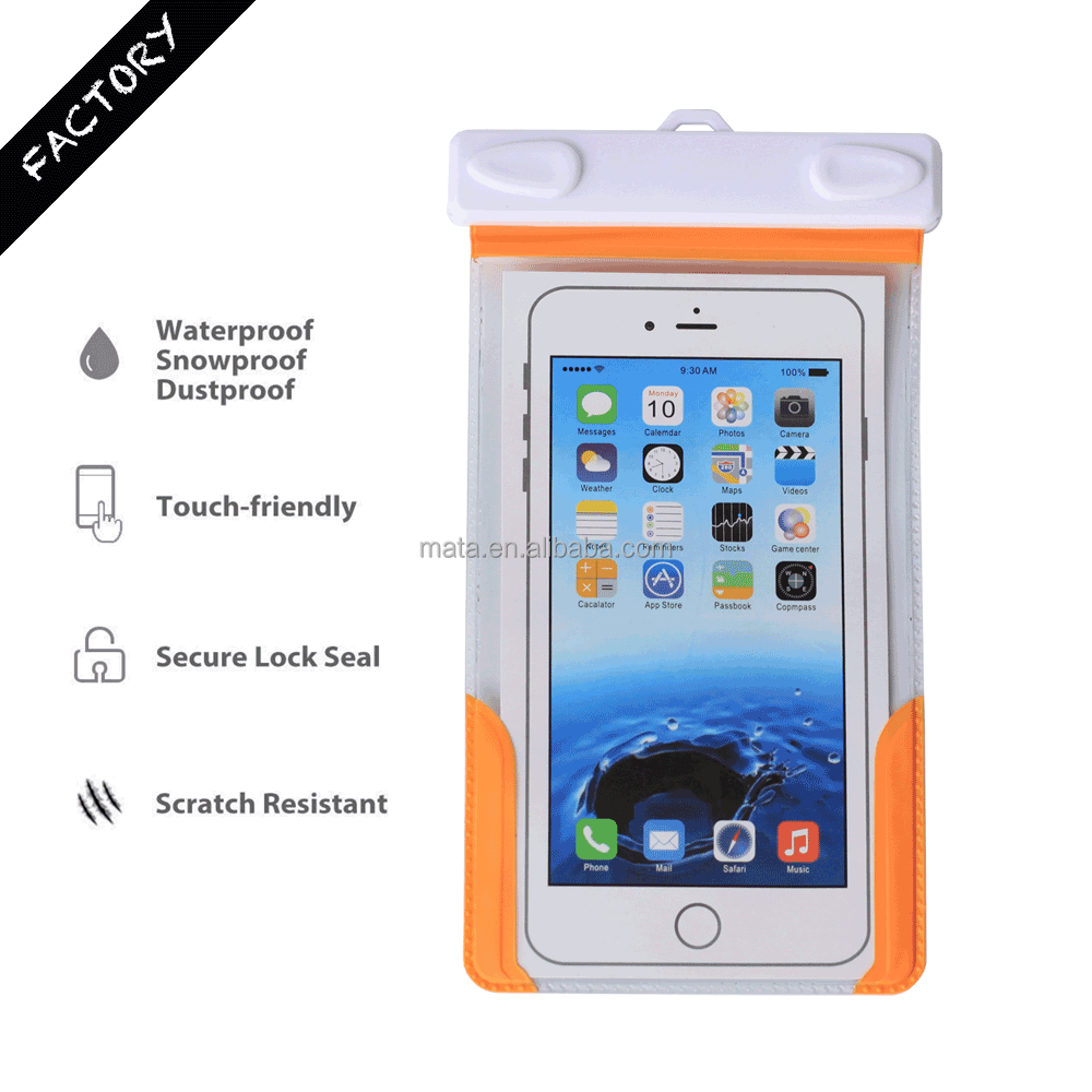 Top Sale Waterproof Valuables Case for iPhone 6/6s with IPX8 Certificated