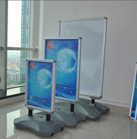 heavy duty metal display stand advertising poster pavement sign with snap poster frame