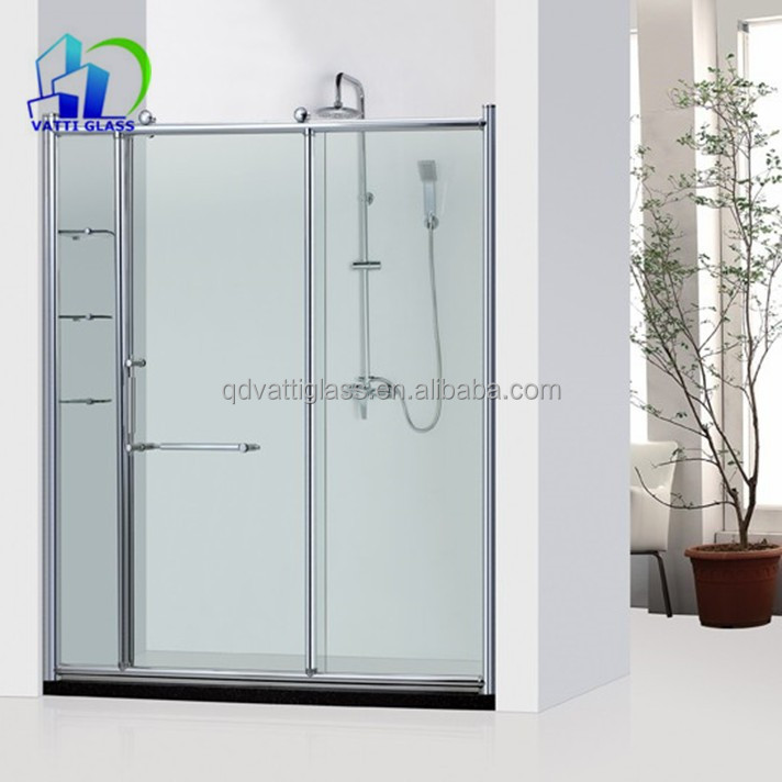 8mm Tempered Glass Shower Wall Panels Frosted Glass Bathroom Door