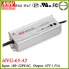 Meanwell HVG-65-42 65w led power supply switching