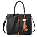 2018 Fashion Women PU Leather Bags Handbags Lady Tote Bag with Tassels