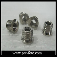 "High Quality Factory Aluminum Camera Mount Screw 1/4"" to 3/8"" Convert Screw Adapter For Tripod & Monopod Ball Head"