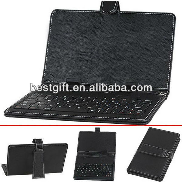 Fashion 11.6 inch tablet pc leather keyboard case