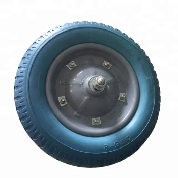 Hot Sale 13 Inch Custom Qingdao PU Solid Wheel