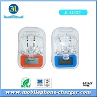 Universal charger with LCD USB output good charger charging for mobile battery hotsell in El Salvador