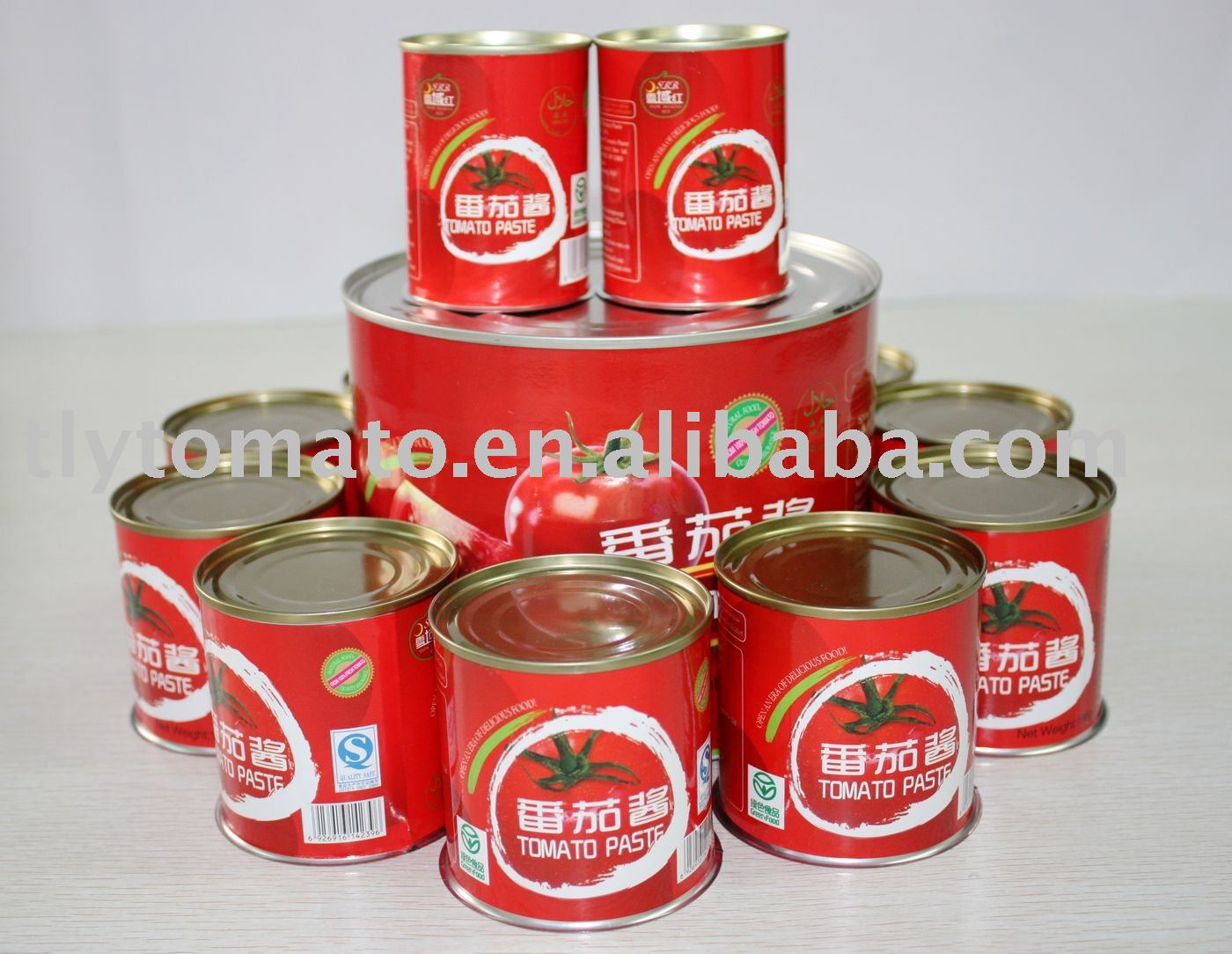 fresh canned tomato paste condiments
