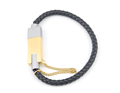 New Pattern OEM Custom Leather Bracelet USB Charger Cable for Andriod