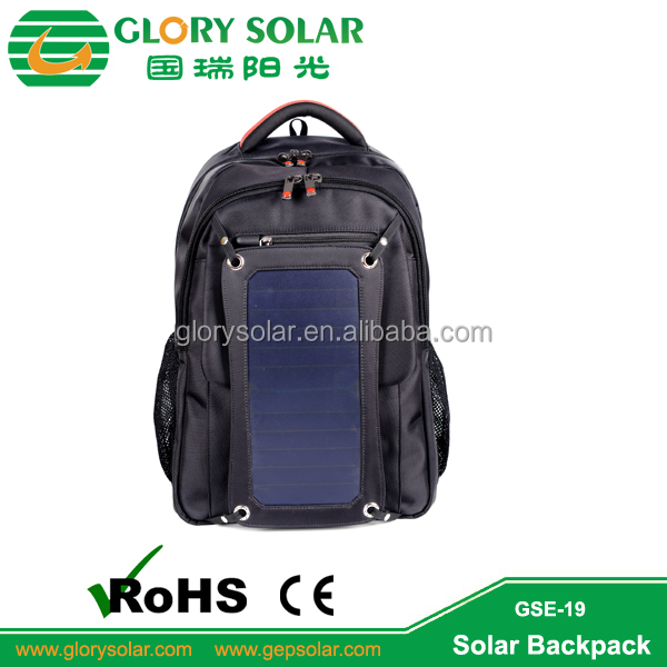 Wholesale Laptop Solar Panel Backpack Solar Panel Bag Solar Charger Bag For Mobile Ipad Tablet