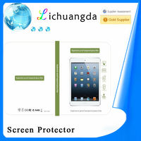 2014 best quality premium tempered glass screen protector for ipad 3