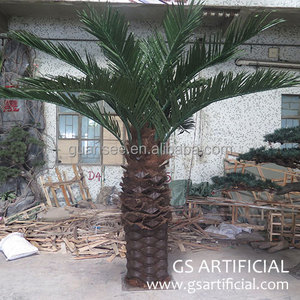 hight quality fiberglass Artificial palm tree 3m palm tree for indoor outdoor fake plastic Artificial Palm Tree