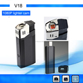 Best 1080p Mini DVR HD mini Camcorder V18 With real fire function as Working lighter Camera