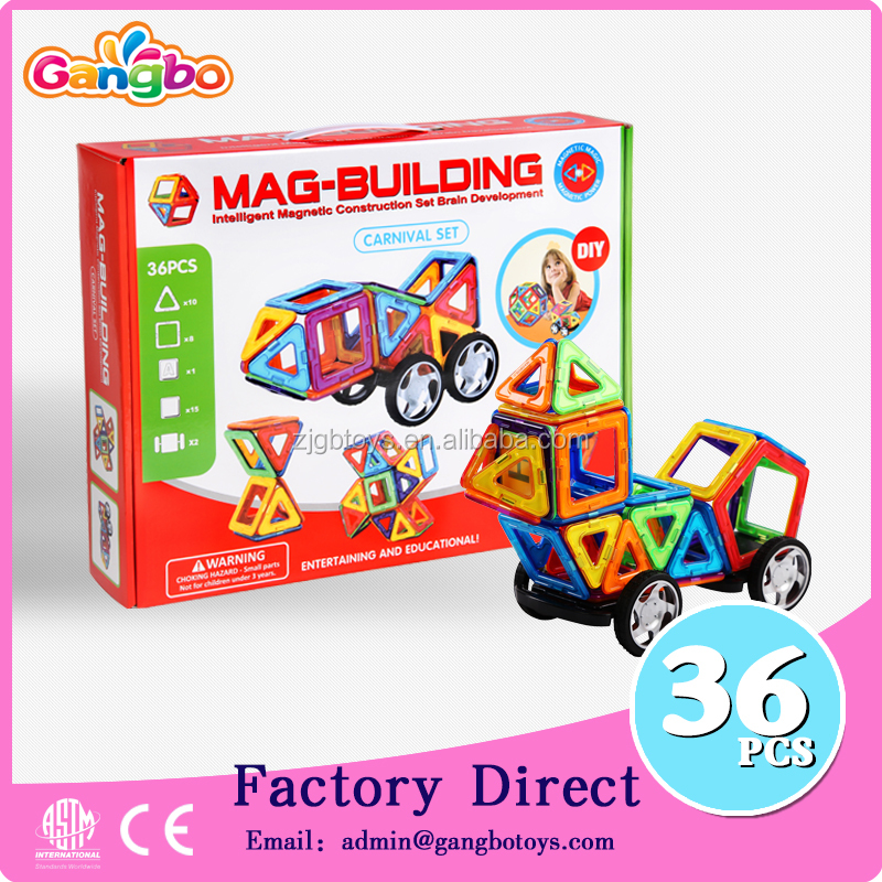 36pcs factory toy cars kids magnetic plastic building blocks toys for kids