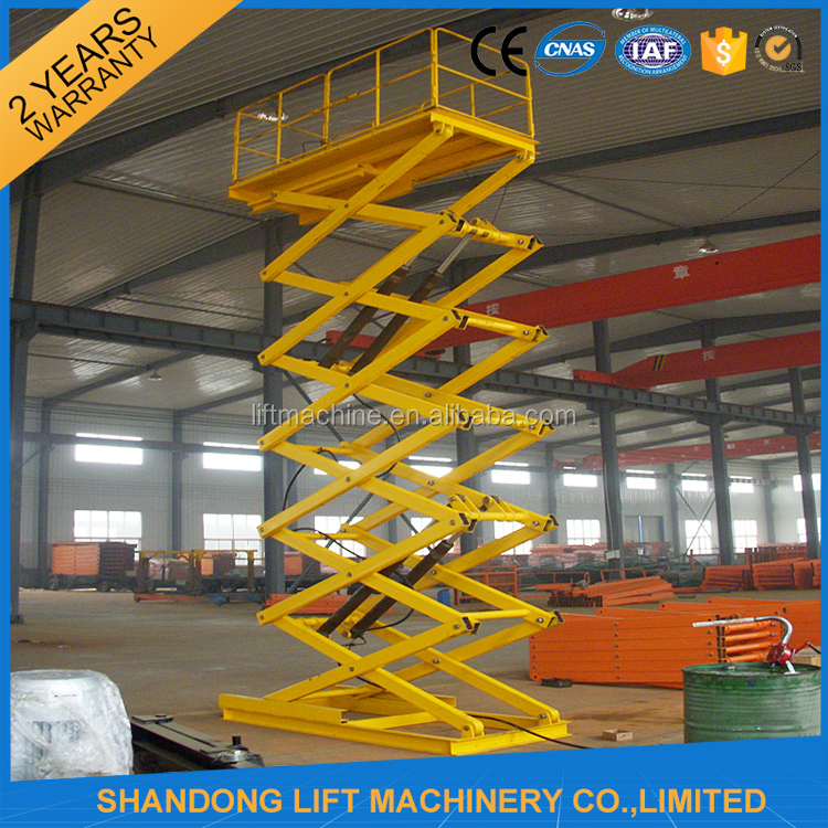 Hydraulic warehouse cargo elevator lift with CE