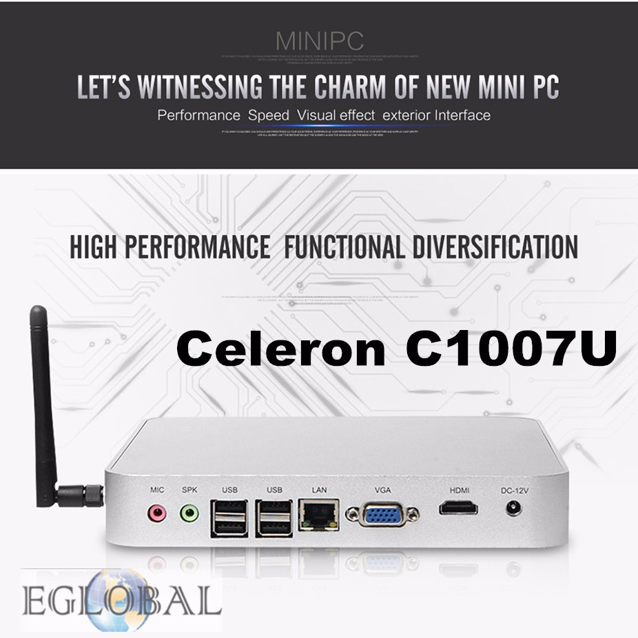 7th Generation Fanless Mini PC Windows10 with i3 7100U Intel HD Graphics620 14 nm 8G Ram 128G SSD 4K HTPC 12V Car PC