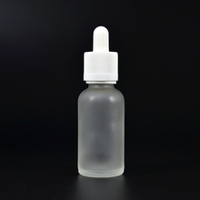 Frosted clear transparent glass dropper bottles 5ml 10ml 15ml 20ml 30ml 50ml 100ml with tamper childproof cap