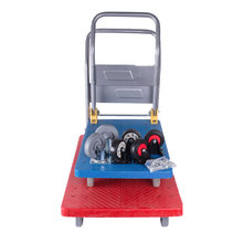 Warehouse tool folding flat cart flatbed transport trolley hand cart