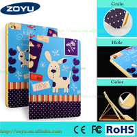 Zoyu Made in China leather case for ipad air, Good hand feel, shockproof smart Leather Case for iPad air