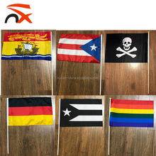 NX FLAG high quality custom football club big size hand flag fire retardant hand flag