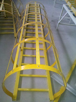 Fiberglass FRP single industrial ladder