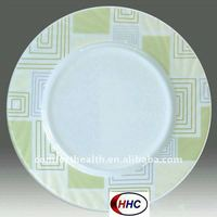 European design decal round flat plate