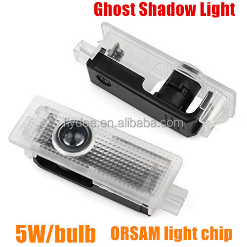 2016 Car Accessaries 2X 5W LED Car Door Laser Projector Logo Ghost Shadow Light Welcome Light For BMW