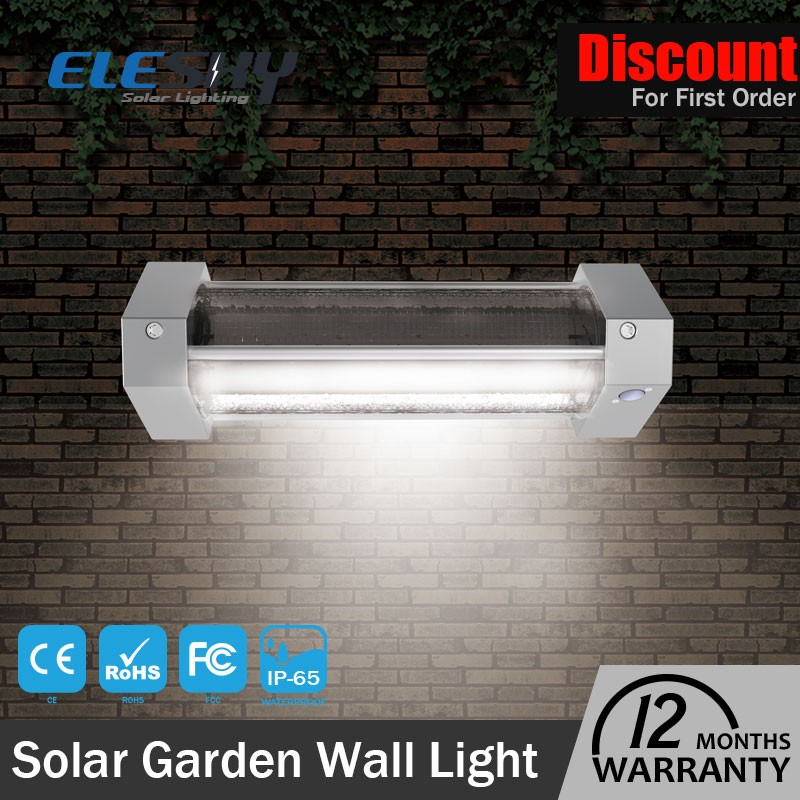 Ce Rohs outdoor IP65 solar powered 5W led solar garden lamps wall