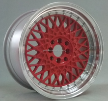 Alloy HRE replica aluminum blank red golden wheel 4X100 5X112