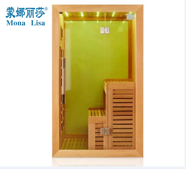 1200*1200*2000mm specification 1-2 person use Cedar wooden Far Infrared heating sauna cabin(I-007)