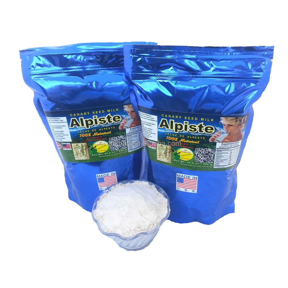 resealable self-standing plastic packaging milk powder bag