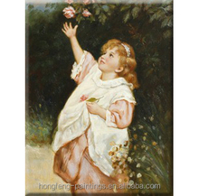 High Quality small girl Oil Paintings on canvas HF-1404006
