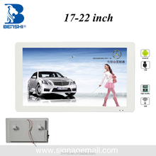 17 inch LCD display for ads, car TFT LCD roof mounted monitor TV USB/wifi on bus/taxi/subway