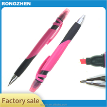 2 in 1 ballpoint pen multi color highlighter with pen