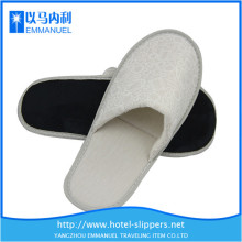 gray knitted cloth disposable sleepers shoes for hotel