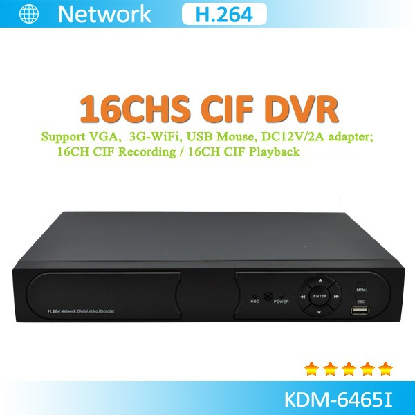 Modern H.264 16chs DVR(2D1+14CIF)16 videos 1chs audio support mouse, with HDMI VGA USB network RS485 PTZ controll IE browse