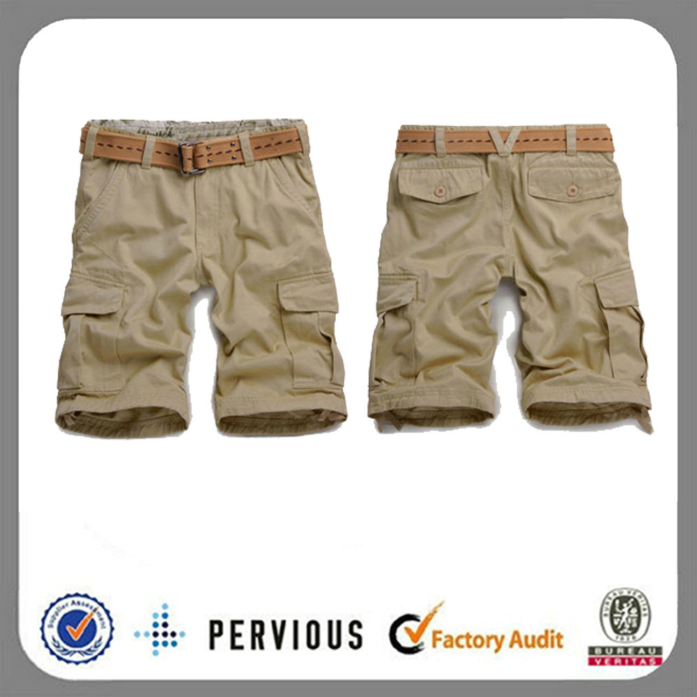 2015 fashion cheap custom 6 pocket baggy men's cargo shorts