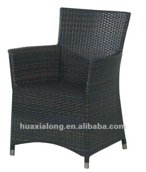 Hot sale all weather Wicker/balck patio/cafe uv-proof chair FWA-009B