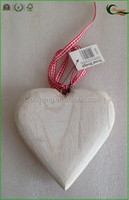 3D Wood Fat Heart for Christmas Tree Decoration