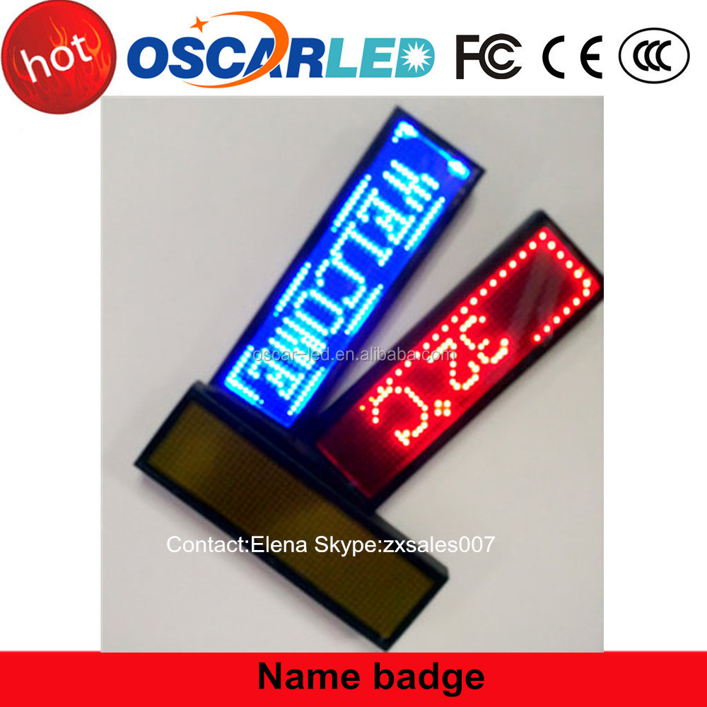 Single color name badge for advertising in Shenzhen Oscarled