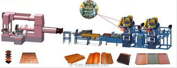 New design clay roof tile making machines production plant