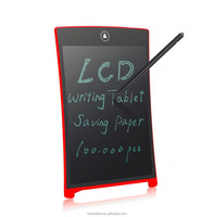 Parblo 8.5'' Memo Board Bulletin Board E-writer Electronic Digital Writing Tablet Drawing Board LCD Graphic Tablet,Red