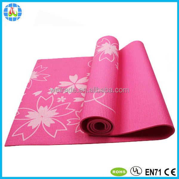cheapest custom pvc screen printing yoga mats for camping picnic hiking