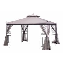 Patio Outdoor metal pavilions gazebo with metal roof